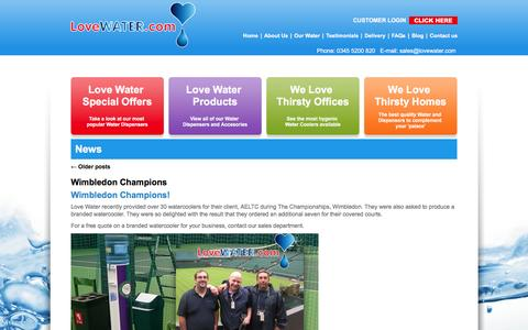 Screenshot of Press Page lovewater.com - News Archives - Love Water - captured Nov. 12, 2016