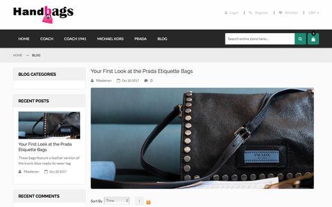 Screenshot of Blog handbagsabouttown.com - Handbags UK Store - Buy Michael Kors Mercer, Coach 1941, Prada Shoulder Bags at discount prices EM Blog - captured Feb. 1, 2018