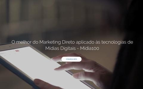 Screenshot of Home Page midia100.com.br - Midia100 - Consultoria e Serviços de Marketing - captured Feb. 13, 2016