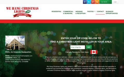 Screenshot of Contact Page wehangchristmaslights.com - WHCL - Christmas Light Installers - captured Nov. 7, 2017