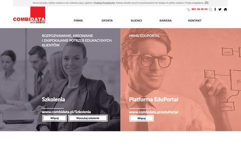 Screenshot of Home Page combidata.pl - combidata.pl: Combidata : Szkolenia : Szkolenia IT : Doradztwo : Zarządzanie procesami HR: elearning - captured Sept. 18, 2015