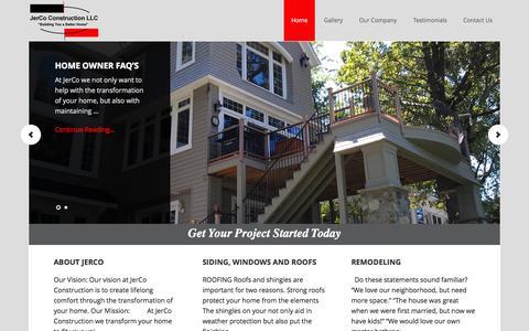 "Screenshot of Home Page jercoconstructionmn.com - JerCo Construction - ""Building you a better home"" - captured Sept. 7, 2015"