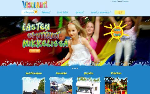 Screenshot of Home Page visulahti.fi - Visulahti   Visulahti - Visulahden matkailukeskus - captured Jan. 27, 2015
