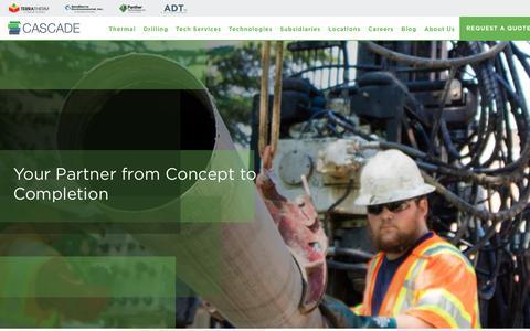 Screenshot of Home Page cascade-env.com - National Drilling Company: Cascade Drilling - captured July 7, 2018
