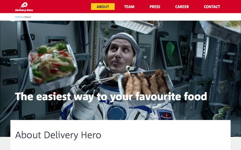 Delivery Hero – About