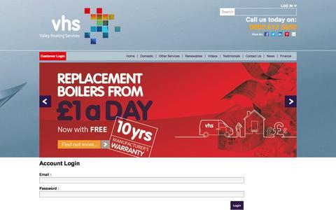 Screenshot of Login Page vhsgroup.co.uk - Login - captured Oct. 27, 2014