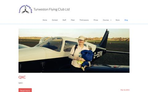 Screenshot of Blog turwestonflyingclub.org.uk - Blog - captured Feb. 16, 2016