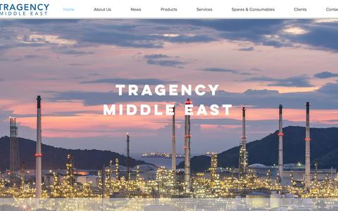 Screenshot of Home Page tragency.com - Tragency Middle East | TME - captured Oct. 18, 2018