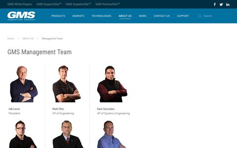 Screenshot of Team Page gms4sbc.com - Management Team - captured Dec. 14, 2018