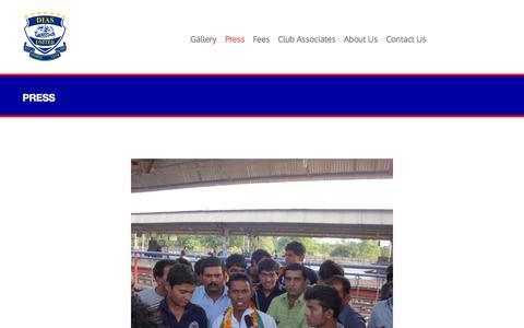 Screenshot of Press Page diasunited.com - Press   Dias United - captured Nov. 3, 2014