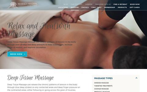 Deep Tissue Massage | Massage Therapy | Massage Heights