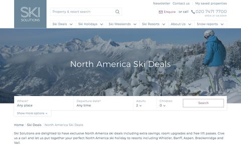 North America Ski Deals | Ski Solutions