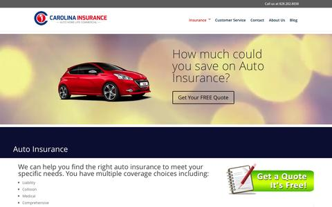 Auto Insurance - Carolina Insurance