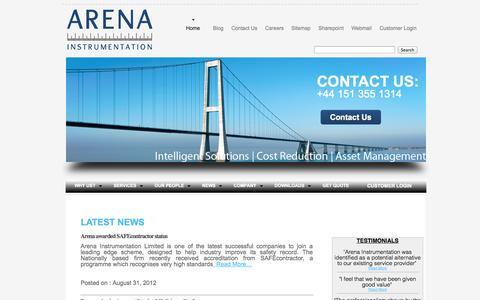 Screenshot of Press Page arena-instrumentation.com - Arena Instrumentation   Latest News   - captured Oct. 4, 2014