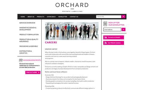 Screenshot of Jobs Page orchardintl.com - Careers at Orchard International Inc. - captured Feb. 16, 2016