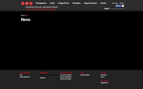 Screenshot of Press Page rockarchive.nl - News - captured Sept. 30, 2014