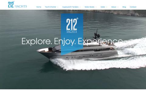 Screenshot of Home Page 212-yachts.com - 212 Yachts: Luxury Yacht Charters & Boat Rentals, Europe - captured Dec. 13, 2016
