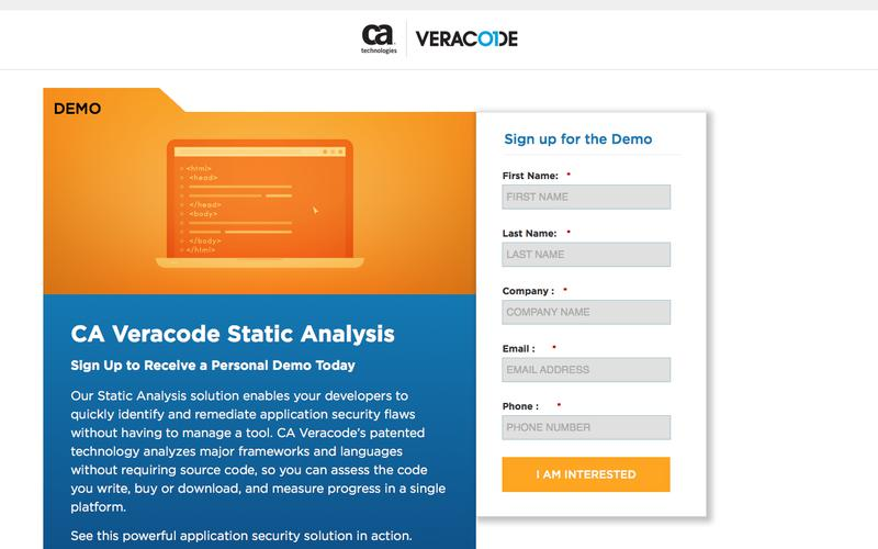 CA Veracode Static Demo | Veracode