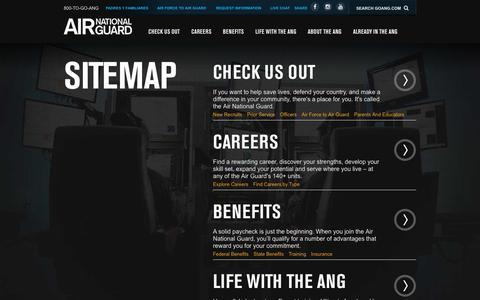 Screenshot of Site Map Page goang.com - Site Map | Air National Guard - captured Nov. 15, 2016