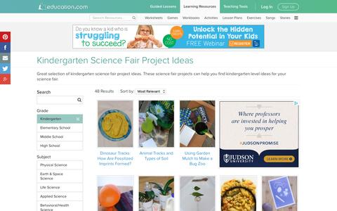 Kindergarten Science Fair Project Ideas | Education.com
