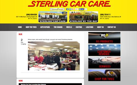 Screenshot of Press Page sterlingcarcare.com - Sterling Heights, MI Tires Shop News :: Sterling Car Care - captured Oct. 7, 2014