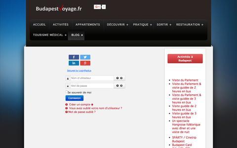 Screenshot of Login Page budapestvoyage.fr - Login - Budapest Voyage - captured Feb. 8, 2016
