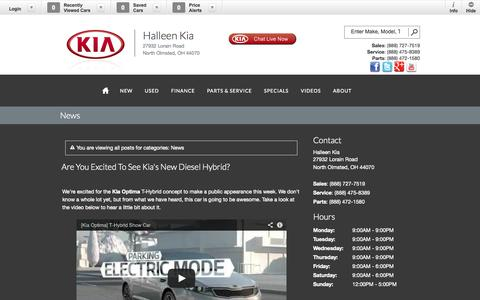 Screenshot of Press Page halleenkia.com - News Blog Post List | Halleen Kia - captured Oct. 1, 2014