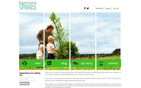 Screenshot of Home Page harmonysprings.org - harmony springs church green, oh - captured Jan. 26, 2016