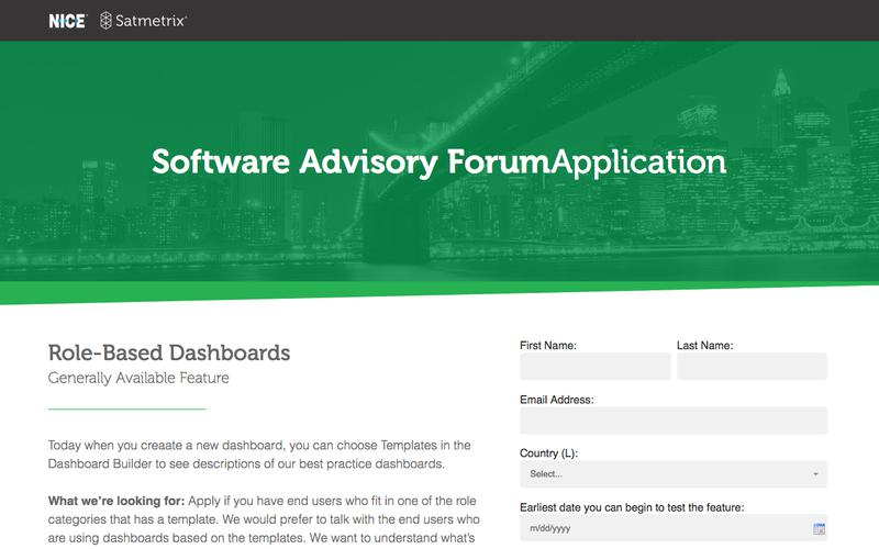 Software Advisory Application: Role Based Dashboards