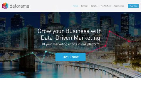 Screenshot of Landing Page datorama.com - Datorama – Marketing Intelligence - captured Oct. 27, 2014