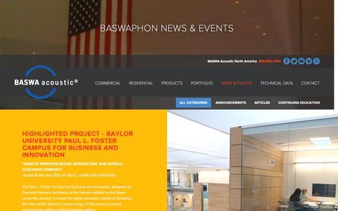 Screenshot of Press Page baswaphon.com - BASWAphon Acoustical Plaster - captured Feb. 3, 2016