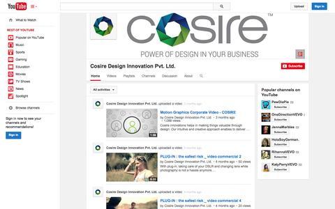 Screenshot of YouTube Page youtube.com - Cosire Design Innovation Pvt. Ltd.  - YouTube - captured Nov. 2, 2014
