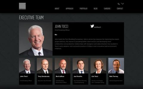 Screenshot of Team Page tocci.com - Team - Tocci Building Companies - captured Oct. 1, 2014