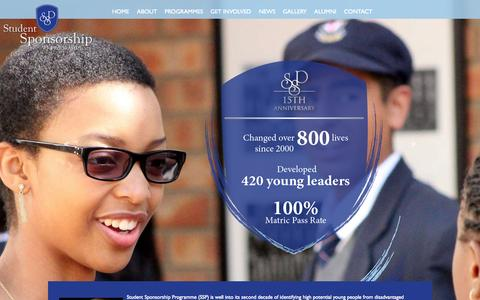 Screenshot of Home Page ssp.org.za - Student Sponsorship Programme - captured Aug. 15, 2015