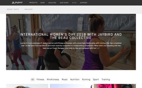 Screenshot of Blog jaybirdsport.com - Recent Posts - Jaybird Blog - captured April 24, 2018