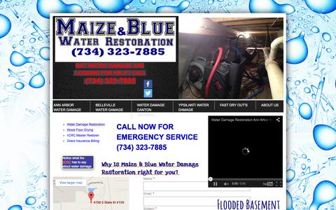 Screenshot of Privacy Page Contact Page mbluerestoration.com - Maize & Blue Water Damage Restoration in Ann Arbor, Mi : Contact - captured Feb. 4, 2016