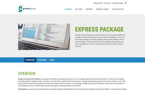 Express Package | Streamline Your Event Management - Greater Giving