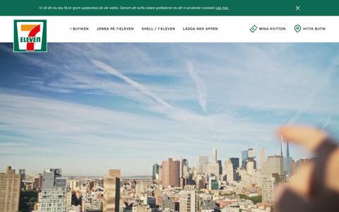 Screenshot of Home Page 7-eleven.se - 7-Eleven - captured Oct. 22, 2018