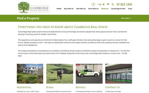 Screenshot of About Page cambridgerealestate.co.nz - Cambridge Real Estate - About Us - captured May 14, 2017