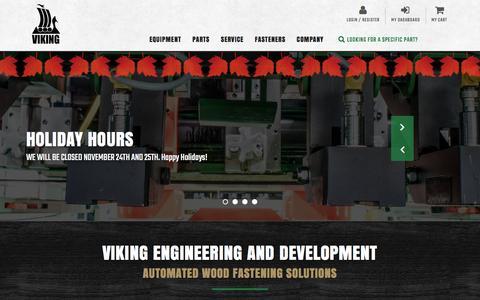 Screenshot of Home Page vikingeng.com - Viking Engineering - captured Nov. 29, 2016