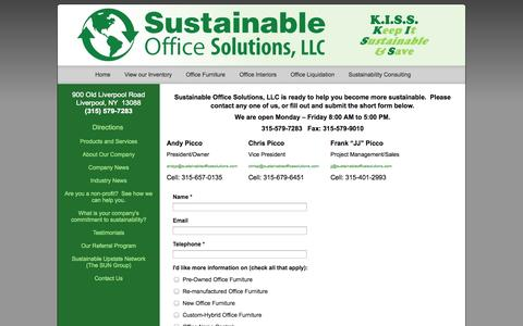 Screenshot of Contact Page sustainableofficesolutions.com - Contact Sustainable Office Solutions Green & Sustainable Office Furniture | Sustainable Office Solutions - captured Oct. 7, 2014