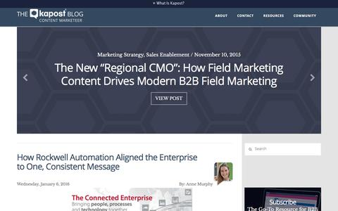 Chronicling the Content Marketing Revolution | Kapost Content Marketeer