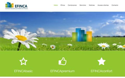 Screenshot of Home Page efinca.es - Administrador de fincas y comunidades en Badajoz, Mérida y Madrid. - captured Oct. 1, 2014