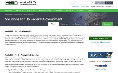Veeam's Availability Solutions for US Federal Government