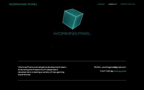 Screenshot of About Page workingpixel.com - About Ń Working Pixel - captured Jan. 12, 2016