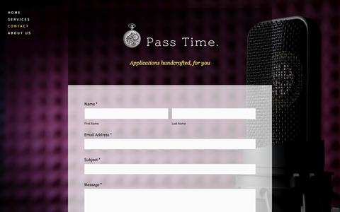 Screenshot of Contact Page passtimesoftware.com - Contact — Pass Time - captured July 16, 2018