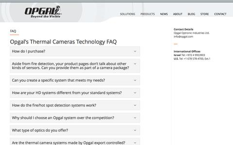 Screenshot of FAQ Page opgal.com - Frequently Asked Questions - Opgal - captured June 13, 2017