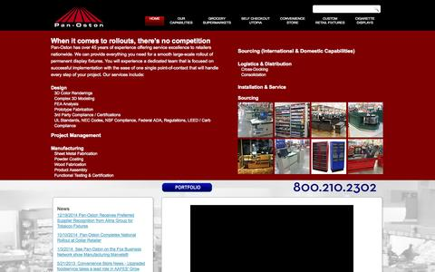 Screenshot of Home Page panoston.com - Checkout Counters | Grocery Displays | Custom Design - captured Jan. 17, 2015
