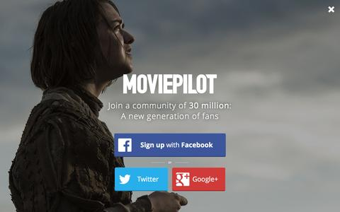 Screenshot of Login Page moviepilot.com - A New Generation of Fans | moviepilot.com - captured Feb. 17, 2016