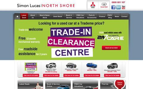 Screenshot of Home Page simonlucas.co.nz - Simon Lucas North Shore - Mitsubishi | Mitsubishi Service & Parts | Auckland Mitsubishi - captured Oct. 6, 2014